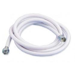 TUBO RICAMBIO PER DOCCIA FLESSIBILE PVC RETINATO MT 5  - 1/2 3/8 SENZA DOCCETTA